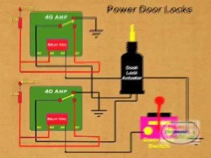 How to Wire Relay Power Door Lock  YouTube