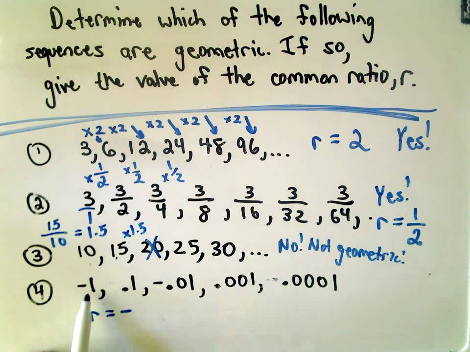 A Quick Intro To Geometric Sequences Youtube