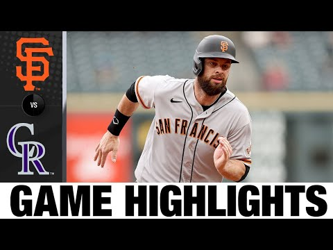 Giants vs. Rockies Full Game 1 Highlights (5/4/21) | MLB Highlights
