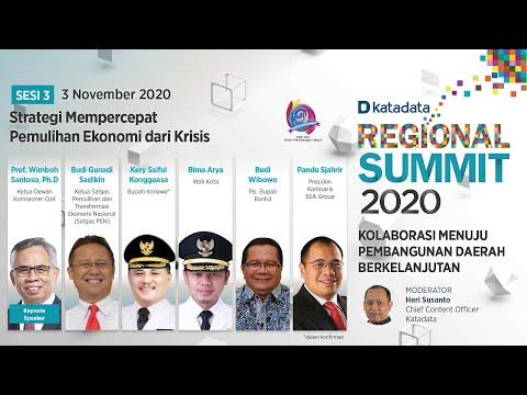 Sesi 3: Strategi Mempercepat Pemulihan Ekonomi dari Krisis | Regional Summit 2020