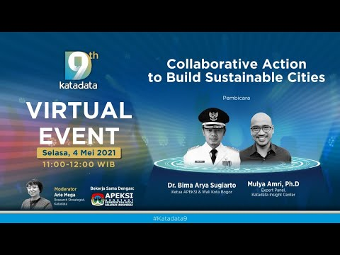 "#Katadata9 Virtual Event: ""Collaborative Action to Build Sustainable Cities"""