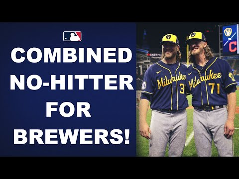 Corbin Burnes goes 8 no-hit innings with 14 Ks and Josh Hader finishes it off in the 9th!