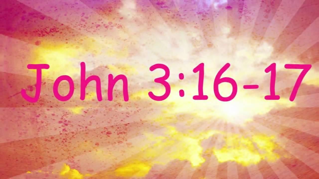 John 316 Bible Memory Verse Song For Children YouTube