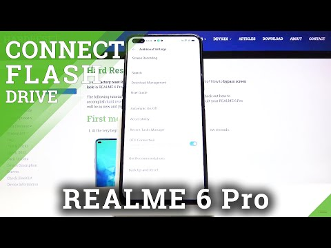 OTG Connection in REALME 6 Pro - Connect Flash Drive