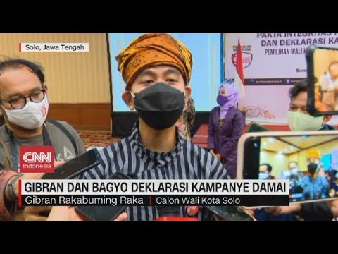 Gibran dan Bagyo Deklarasi Kampanye Damai