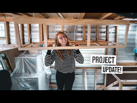 RV Project UPDATE + Building Our Cabinets & Halloween FUN!