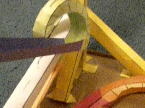 My First Marble Run Using Paper Roller Coaster Templates YouTube