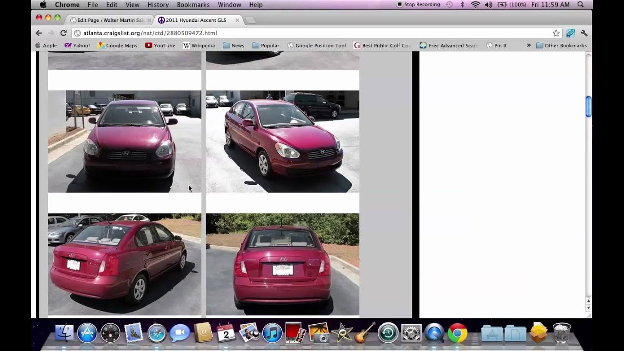 Craigslist Atlanta Ga Local Used Cars At Dealerships In 2012 Youtube