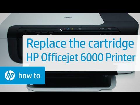 Replacing A Cartridge Hp Officejet 6000 Printer E609a