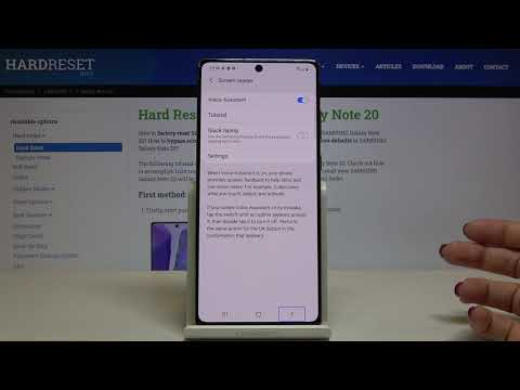 How to Enable Talkback on SAMSUNG Galaxy Note 20 – Find Screen Reader Option
