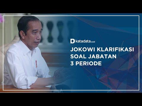 Jokowi Klarifikasi Soal Jabatan 3 Periode | Katadata Indonesia