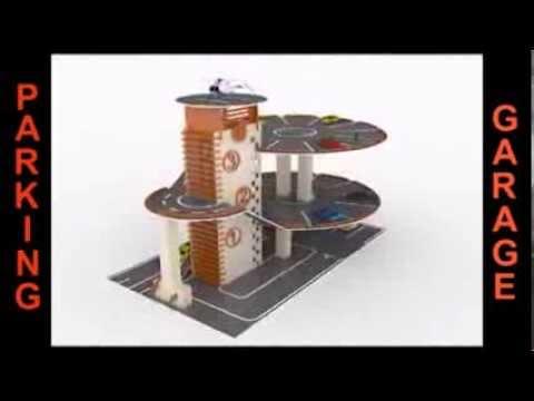 Laser Cutting Plans Parking Garage Building Wood Toy Cnc Futurelab3d