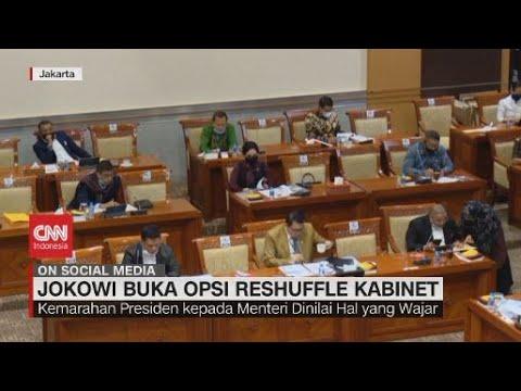 Jokowi Buka Opsi Reshuffle Kabinet