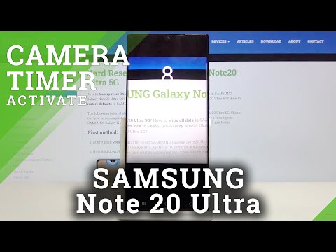 How to Change Camera Timer in SAMSUNG Galaxy Note 20 Ultra – Camera Settings
