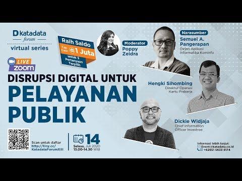 """Katadata Forum Virtual Series """"Disrupsi Digital untuk Pelayanan Publik"""""""