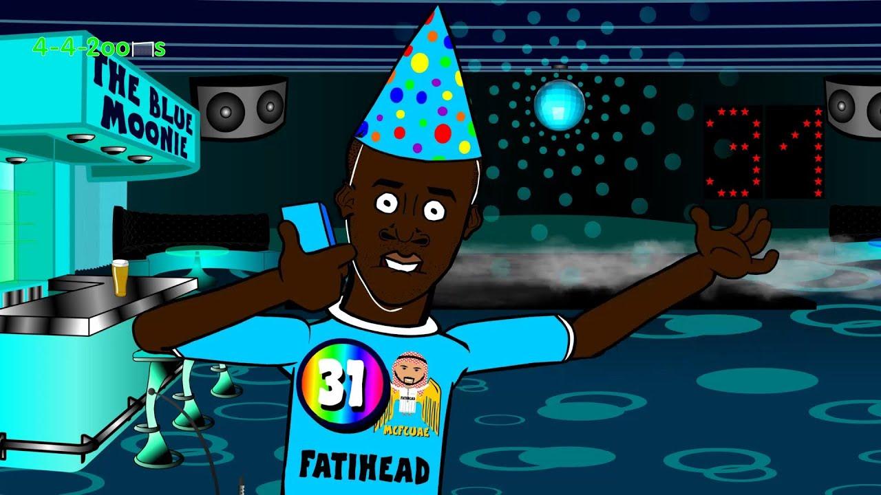 Yaya Toure S Birthday By 442oons Football Cartoon Youtube
