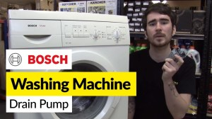 How to replace washing machine pump on a Bosch washer  YouTube