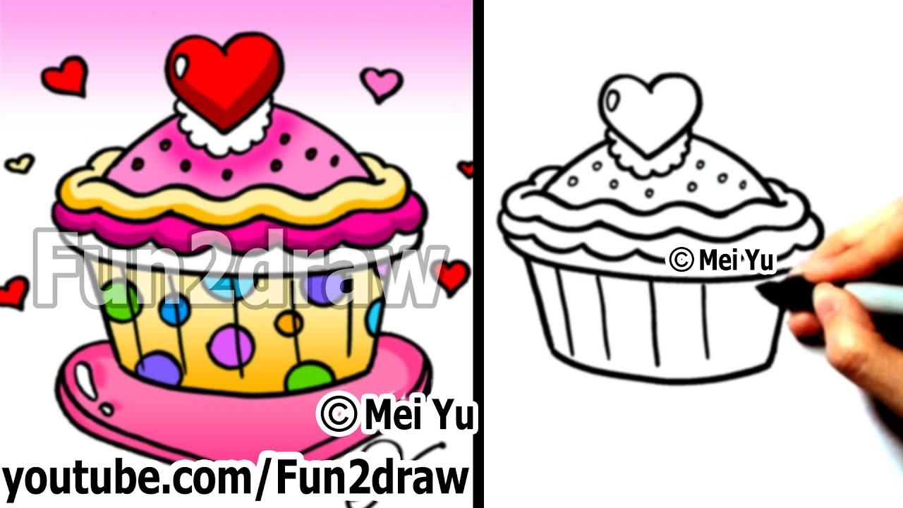 cupcake valentines day fun things to draw fun2draw youtube