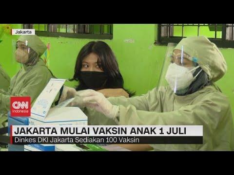 Jakarta Mulai Vaksin Anak 1 Juli