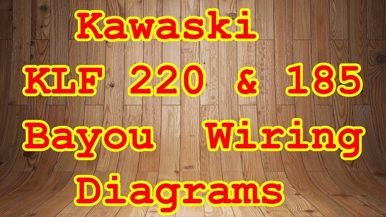Klf 185 Amp 220 Bayou Wiring Diagrams