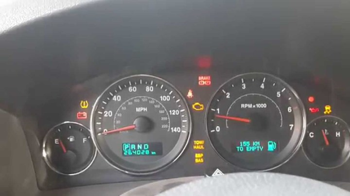 2006 Jeep Grand Cherokee Dash Lights