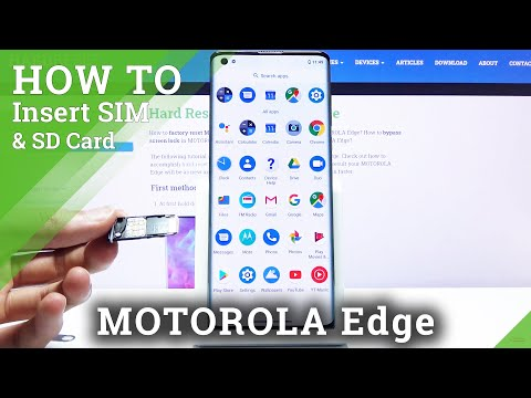 How to Insert SIM and SD Card in Motorola Edge - Set Up Micro SD Card
