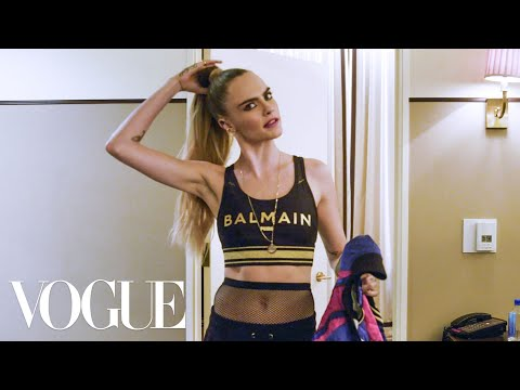Cara Delevingne Gets Ready for the Balmain x Puma Collab Launch   Vogue