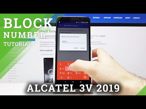 How to Block Number in ALCATEL 3V 2019 – Create Blacklist