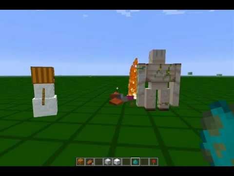 翰哥的minecraft教室-如何製作鐵巨人以及雪人! - YouTube