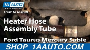 How To Install Replace Heater Hose Assembly Tube Ford Taurus Mercury Sable 0005 1AAuto