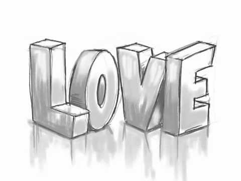 How To Draw 3D LOVE Graffiti Letters YouTube