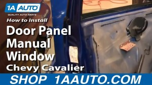 How To Install Replace Front Door Panel Manual Windows Chevy Cavalier 9505 1AAuto  YouTube