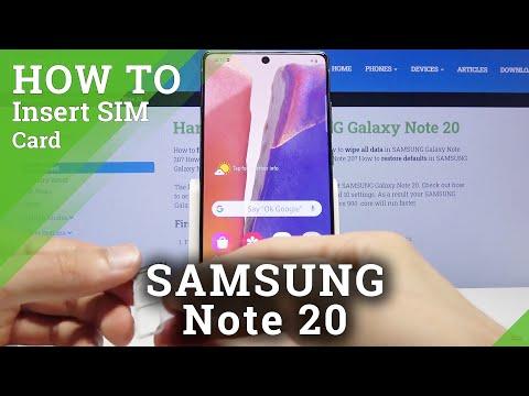 How to Insert Nano SIM to SAMSUNG Galaxy Note 20 – Find SIM Slot