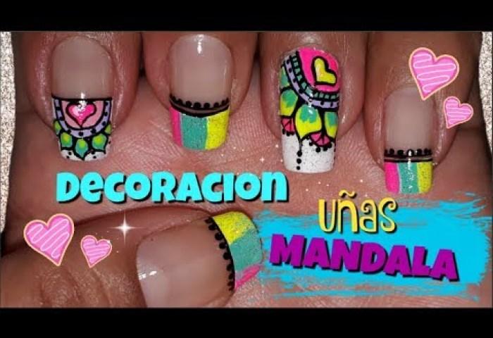 Decoracion De Uñas Mandalas Mandalas Nail Art Mandalas Facil De