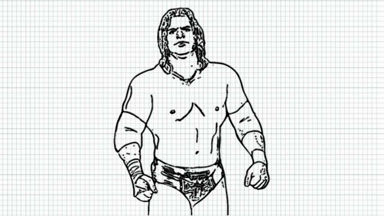 triple h how to draw triple h video hunter hearst helmsley from