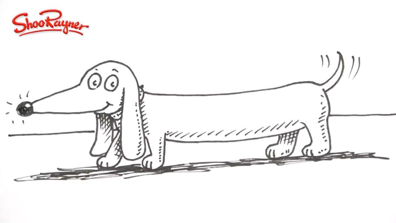 how to draw a cartoon sausage dog youtube