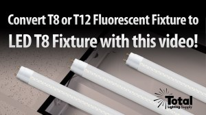 How to change your T12 or T8 Fluorescent fixture to retrofit LED T8 lighting by Total Bulk
