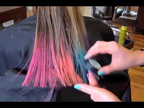 color bug hair chalk youtube