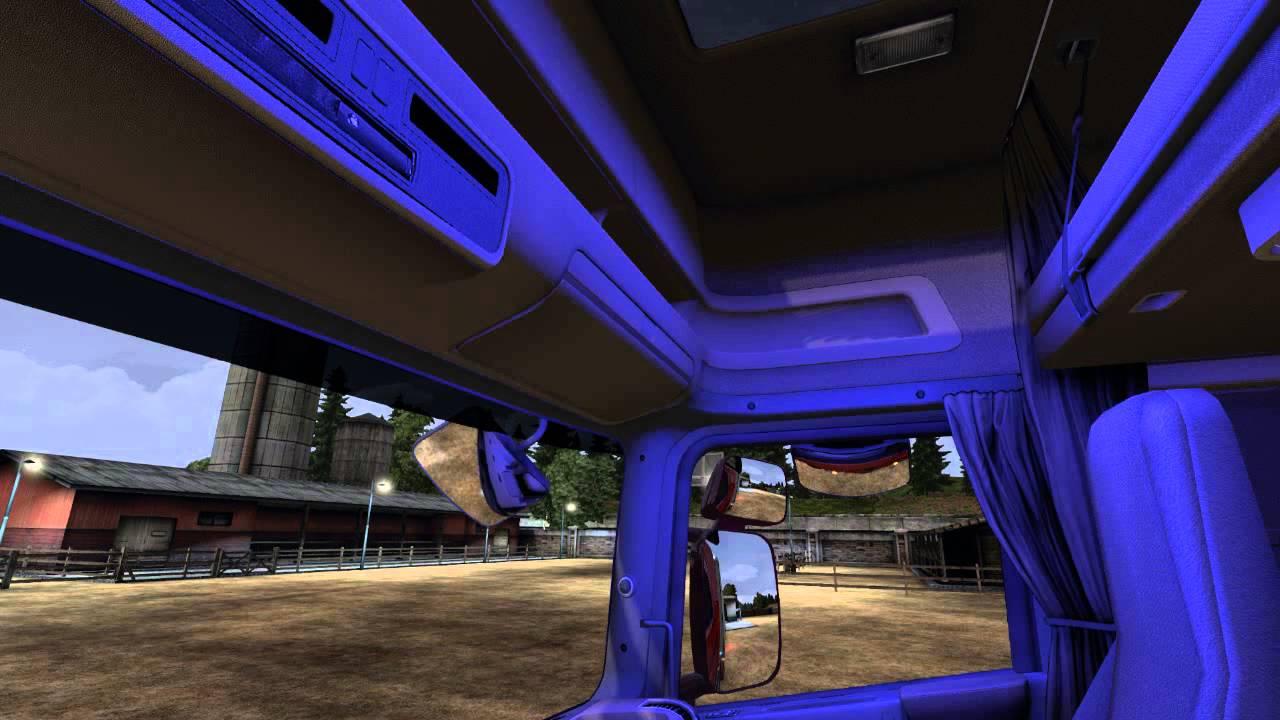 Scania Interior Light Blue Mod Ets 2 Youtube