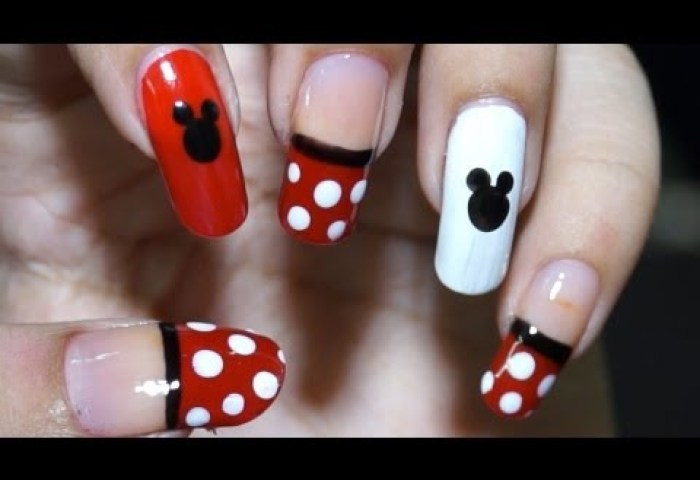 Diy Uñas Decoradas De Minnie Mouse Nails Minnie Mouse