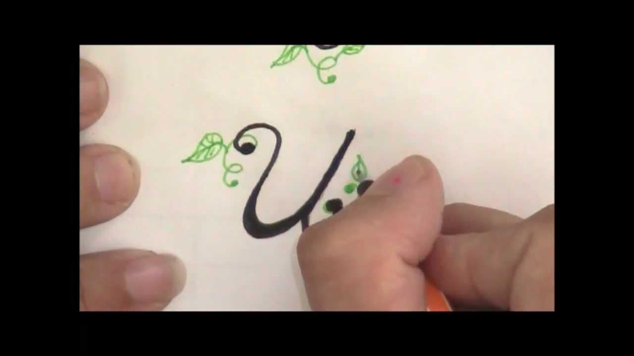 Cursive Fancy Letters