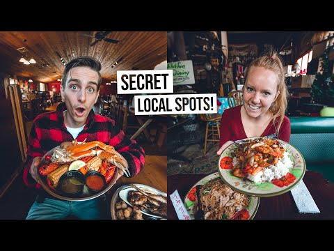We Did a Food Tour IN OUR HOME TOWN! -Delicious Southern Cooking & SECRET Restaurants! 🍽