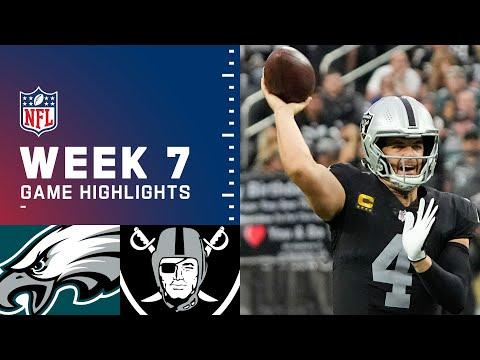 Eagles vs. Raiders Week 7 Highlights | NFL 2021