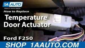 How To Install Replace Heater AC Temperature Door 9907 Ford F250 F350 Super Duty 1AAuto