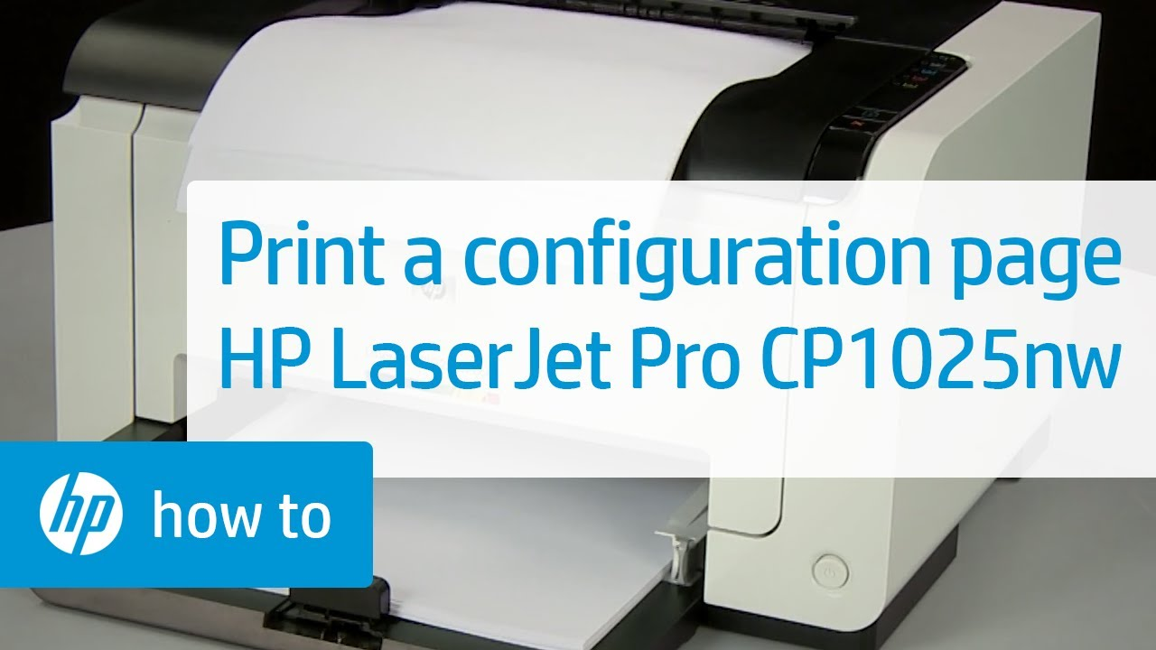 a configuration laserjet pro cp1025nw