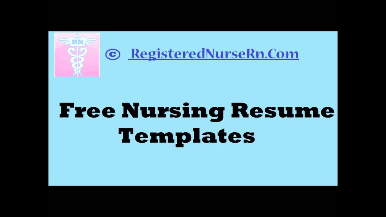 nursing resume templates free resume templates for nurses youtube