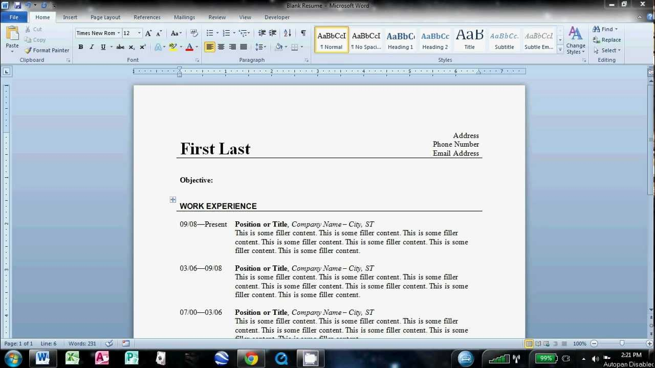 Best Way To Make A Resume In Word. how to write a resume cv with ...