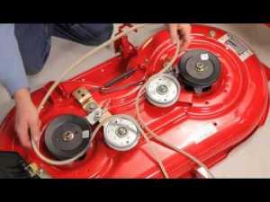 How to change the deck belt | TroyBilt riding lawn mower