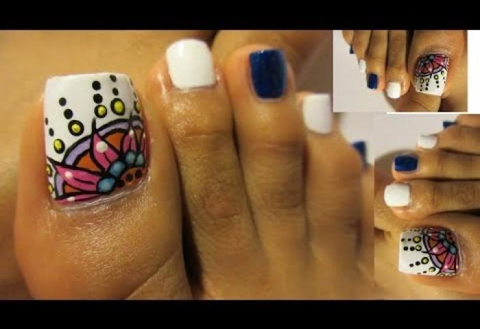 Mariposa Uñas Decoradas De Los Piesbutterfly Toe Nail Art