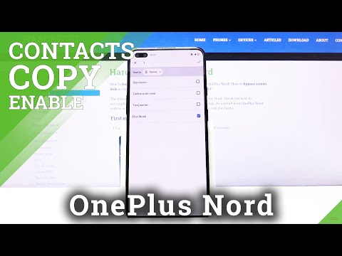 How to Copy Contacts in OnePlus Nord – Transfer Numbers